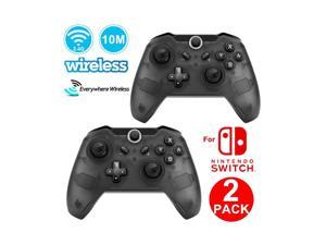 2Pack CORN Bluetooth Wireless Pro Controller for Nintendo Switch - Half Transparent Black