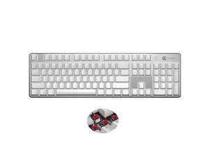 GameSir GK300 Wireless Bluetooth/2.4G Mechanical Gaming Keyboard TTC Red Switch- White