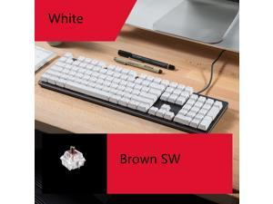 Logitech K845 Wired TTC Mechanical Gaming Keyboard, 104 Keys White Backlit And TTC Mechanical Brown Switch For Windows/MAC/Android/IOS - White