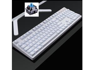CORN Readson F108  NKRO  Ergonomic Design,Cool Exterior USB Wired  Standard Classic White Mechanical Keyboard, White Backlit - (Blue Switch)