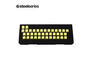 Steelseries 39 Keys  PBT Yellow  Color  Keycaps for  Steelseries /Cherry/Corsair  Mechanical Keyboard