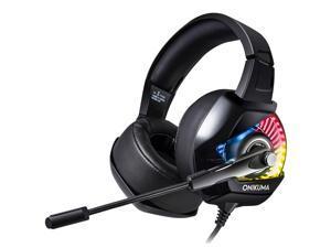 ONIKUMA k6 Noise Canceling Gaming Headset for PS4, PC, Xbox, Nintendo Switch(Black)
