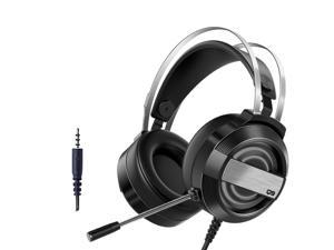 CORN Technology Q9  Gaming Headset with - Steel Frame - Signature Memory Foam, noise-cancellation microphone, No Light Version (Speaker+MIC 2 in1 Single Plug)