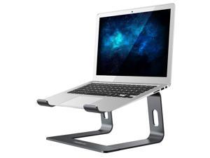 """CORN Laptop Stand, Ergonomic Aluminum Laptop Computer Stand, Detachable Laptop Riser Notebook Holder Stand Compatible with MacBook Air Pro, Dell XPS, HP, Lenovo More 10-15.6"""" Laptops (A- Space Grey)"""