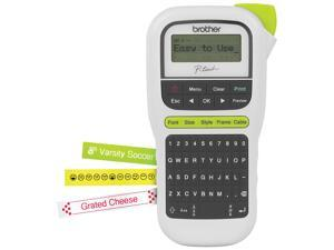 Brother P-touch, PTH110, Easy Portable Label Maker, Lightweight, QWERTY Keyboard, One-Touch Keys, White