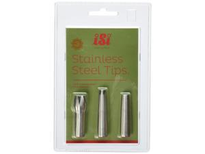 iSi North America 2717 Stainless Steel Decorator Tips for Gourmet Whips, Set of 3