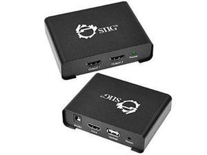 Siig Accessory Ce-h21p11-s1 1x2 Hdmi Splitter With 3d And 4kx2k Brown Box