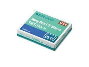 """MAX HD-12F FLAT CLINCH - 1-1000PK 1/2"""" STAPLES"""