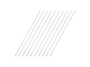 1mm x 150mm 304 Stainless Steel Solid Round Rod for DIY Craft - 10pcs