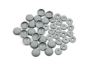 20 Set Gray 4mm Dia Nut Screw Bolt Cap Covers Interior Decoration for Car