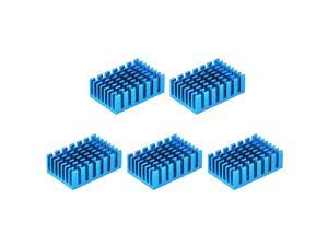 30x20x10mm Black Thermal Self Adhesive Aluminum Heatsink Electronic Radiators 5 Pcs