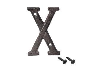 House Letter, 3 Inch Cast Iron Letter X for Home Hotel Mailbox Address Sign