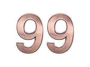 Self Adhesive House Number, 1.97 Inch ABS Plastic Number 9 for House Hotel Mailbox Address Sign Bronze Brushed 2 Pcs