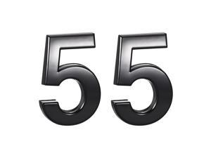 Self Adhesive House Number, 1.97 Inch ABS Plastic Number 5 for House Hotel Mailbox Address Sign Black 2 Pcs