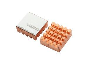 Global Bargains Copper DDR DDR2 DDR3 RAM Memory Cooler Heatsink RHS-03 2Pcs
