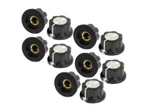 10pcs Adjustable Turn 19mm Top 6mm Shaft Insert Dia Potentiometer Rotary Knobs