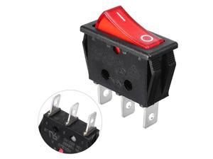 10A/250V 15A/125V Red Neon Lamp 3 Pin SPST ON/OFF Panel Mount Rocker Switch