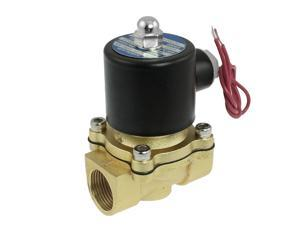 """NC 3/4"""" Port 2 Position 2 Way Water Air Oil Electric Solenoid Valve AC 220V"""