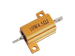 Unique Bargains Aluminum 10W 4.5 Ohm 5% Wire Wound Resistor Resistance