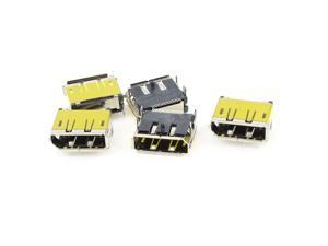Unique Bargains 5pcs HDMI Female 19Pin SMT Socket PCB Soldering Mounting Connectors