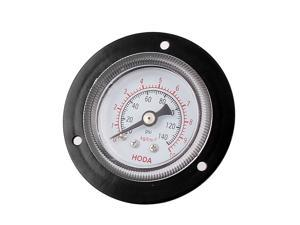 61mm x 25mm Metal 1/8PT Thread Water Air Pressure Gauge 0-140 Psi