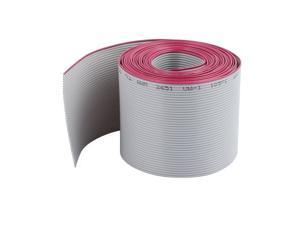 2.54mm Pitch 40P F/F IDC Connector Flat Ribbon Cable Cord Gray 2.5M Length