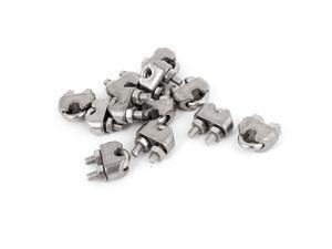 """12pcs Silver Tone 4.5mm 3/16"""" Wire Rope Fastener U Bolt Clamp Clip"""