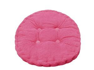 Home Office Corduroy Round Shaped Sofa Floor Chair Seat Cushion Pad Fuchsia