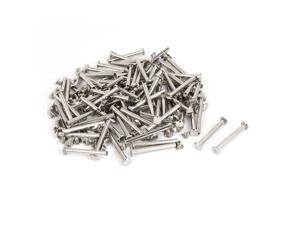 M5x13mm Leather Craft Belt Metal Nail Rivets Chicago Screws Binding Post 500pcs