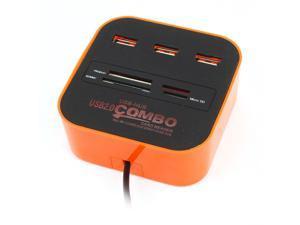 Unique Bargains Micro SD TF Memory Card Reader 3 Port USB 2.0 Hub Combo Adapter
