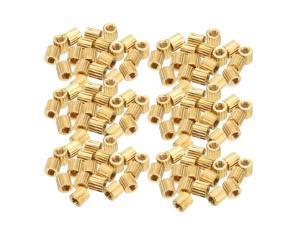 20pcs Straight Brass PCB Pillar Thread Female Hexagonal Separator M3x5x50mm