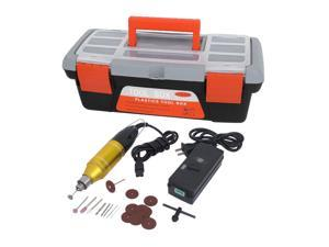 US Plug AC100-240V Electric Micro Drill Grinder Handle Polishing Drilling Disc Saw Tool Kit 23 in 1