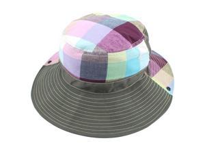 Fisherman Outdoor Fishing Plaid Pattern Wide Brim Summer Beach Hat ... 154161e5cd89