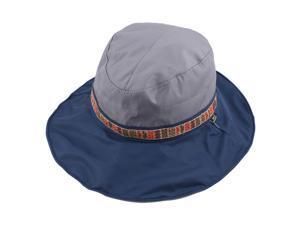 Fisherman Outdoor Fishing Climbing National Style Floppy Cap Bucket Sun Hat Gray