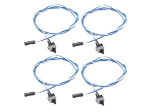 """19.7"""" Length Power Supply Reset Switch Motherboard Cable Wire 4 Pcs"""