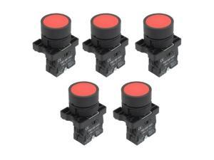 Unique Bargains Unique Bargains ZB2-EA42 NC Normally Closed Red Sign Ignition Momentary Push Button Switch 5 Pcs