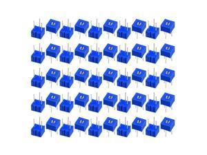 Unique Bargains Resistors 20K Ohm Top Adjustment Horizontal Cermet Potentiometer 50 Pcs