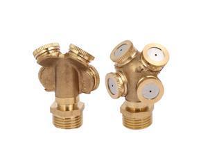 1/2BSP DN15 4 Hole Mist Spray Nozzle Garden Sprinklers Irrigation Fitting 2pcs