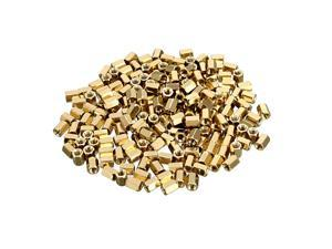 Unique Bargains 200pcs Brass Straight PCB Pillar Female Thread Hex Standoff Spacer M3x5x6mm