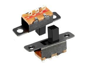2Pcs 6mm Vertical Slide Switch SPDT 2 Position 3 Terminals PCB Panel Latching