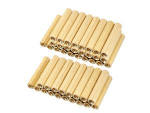 Unique Bargains 50pcs Brass Round Straight PCB Pillar Female Thread Standoff Spacer M2x3x15mm