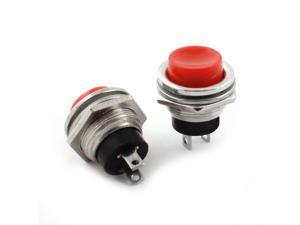 Unique Bargains 2PCS 14mm Mounting Dia SPST Momentary Push Button Switch AC125V 3A