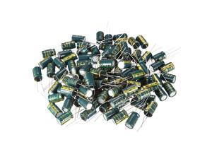 Aluminum Radial Electrolytic Capacitor Low ESR Green w 1500UF 16V 105 Celsius Life 3000H 10 x 17 mm High Ripple Current,Low Impedance 100pcs