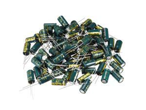 Aluminum Radial Electrolytic Capacitor Low ESR 330uF 35V 105 Celsius 3000H Life 8x16mm High Ripple Current Low Impedance 80pcs Green