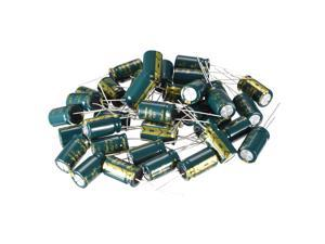 Aluminum Radial Electrolytic Capacitor Low ESR Green with 1000UF 16V 105 Celsius Life 3000H 10 x 17 mm High Ripple Current,Low Impedance 35pcs