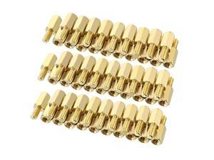 Unique Bargains 60pcs M3 8+6mm Female Male Thread Brass Hex Standoff Spacer Screws PCB Pillar