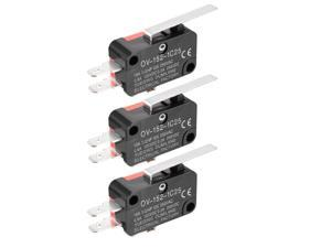 3PCS OV-152-1C25 15A 125/250VAC SPDT NO NC 3 Terminals Hinge Lever Type Miniature Micro Switch