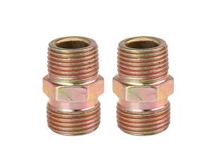 Brass Push to Connect Air Fittings 4Pcs Metric 4mm OD Straight Union Quick Connect Push Lock Fitting Air Hose Pneumatic Fittings Tube Connectors Nickel-Plated