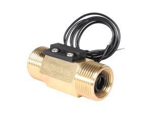 Unique Bargains G3/4 Hall Effect Liquid Water Flow Sensor Switch Flowmeter Meter 2.5-30L/min