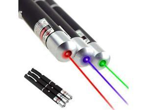 3pcs 5mW 532NM Powerful Laser Pointer Pen Combo Green + Blue / Violet ...